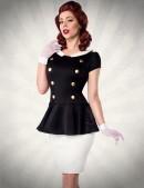 Винтажное платье с баской (105183) - foto