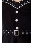 Винтажное платье с болеро и поясом (105189) - цена, 4