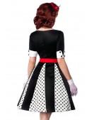 Винтажное платье с поясом (105179) - оригинальная одежда, 2