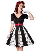 Винтажное платье с поясом (105179) - цена, 4