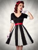 Винтажное платье с поясом (105179) - foto