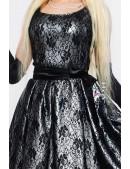 Нарядное платье с подъюбником, перчатками и поясом (105150) - оригинальная одежда, 2