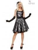 Нарядное платье с подъюбником, перчатками и поясом (105150) - foto