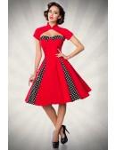 Красное ретро-платье с болеро (105257) - 3, 8