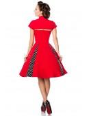 Красное ретро-платье с болеро (105257) - оригинальная одежда, 2