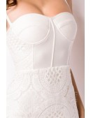 Бандажное белое платье миди XC5330 (105330) - цена, 4
