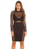 Облегающее платье с сетчатыми вставками KC5381 (105381) - оригинальная одежда, 2