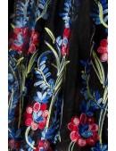 Винтажное платье с вышитой юбкой (105388) - материал, 6