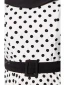 Винтажное платье в горошек B5390 (105390) - материал, 6