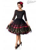 Винтажное платье с вышивкой на юбке Belsira (105396) - foto
