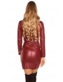 Бордовое платье под кожу KouCla (105397) - 3, 8