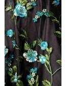 Винтажное платье с цветочным узором и вышивкой (105403) - материал, 6