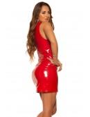 Красное облегающее платье под латекс KC5408 (105408) - 4, 10