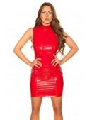 Красное облегающее платье под латекс KC5408 (105408) - цена, 4