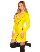 Платье под кожу в стиле Glam-rock (105412) - цена, 4