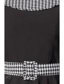 Ретро платье с воротником и поясом Belsira (105418) - материал, 6
