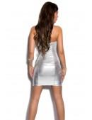 Блестящее серебристое платье MF7160 (127160) - 3, 8