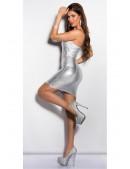 Блестящее серебристое платье MF7160 (127160) - цена, 4