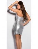 Блестящее серебристое платье MF7160 (127160) - материал, 6
