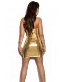 Золотистое блестящее платье MF7162 (127162) - 3, 8