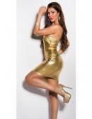 Золотистое блестящее платье MF7162 (127162) - 4, 10