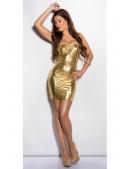 Золотистое блестящее платье MF7162 (127162) - материал, 6
