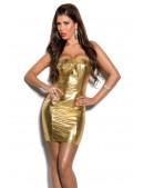 Золотистое блестящее платье MF7162 (127162) - foto