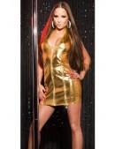 Блестящее золотистое платье KouCla (127164) - 4, 10