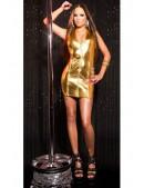 Блестящее золотистое платье KouCla (127164) - цена, 4