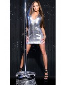 Глянцевое серебристое платье KouCla (127165) - цена, 4