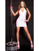 Блестящее белое платье под кожу KC166 (127166) - материал, 6