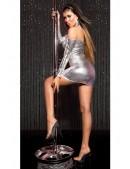 Серебристое платье с открытыми плечами KC168 (127168) - 3, 8
