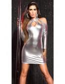 Серебристое платье с открытыми плечами KC168 (127168) - 4, 10