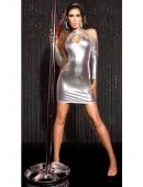 Серебристое платье с открытыми плечами KC168 (127168) - материал, 6
