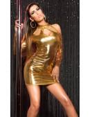 Короткое золотистое платье с декольте KouCla (127169) - цена, 4