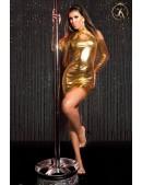 Короткое золотистое платье с декольте KouCla (127169) - foto
