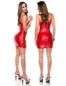 Красное эффектное платье с молниями KC7170 (127170) - оригинальная одежда, 2
