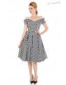 Ретро платье с открытыми плечами XC5325 (105325) - 3, 8