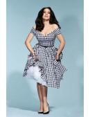 Ретро платье с открытыми плечами XC5325 (105325) - цена, 4