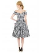 Ретро платье с открытыми плечами XC5325 (105325) - материал, 6