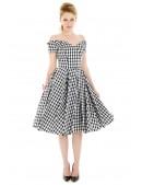 Ретро платье с открытыми плечами XC5325 (105325) - 4, 10