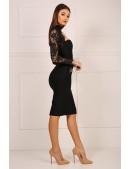 Бандажное платье с чокером и болеро (105329) - материал, 6