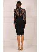 Бандажное платье с чокером и болеро (105329) - цена, 4