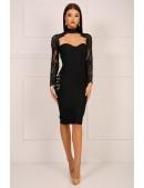 Бандажное платье с чокером и болеро (105329) - оригинальная одежда, 2