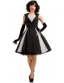 Черно-белое платье в стиле Ретро X5338 (105338) - материал, 6