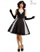 Черно-белое платье в стиле Ретро X5338 (105338) - foto