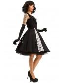 Черно-белое платье в стиле Ретро X5338 (105338) - цена, 4