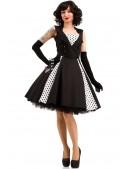 Черно-белое платье в стиле Ретро X5338 (105338) - 3, 8