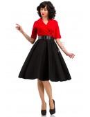 Платье в стиле Ретро с декольте и поясом (105339) - оригинальная одежда, 2