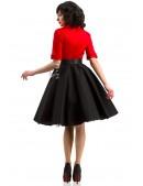 Платье в стиле Ретро с декольте и поясом (105339) - материал, 6